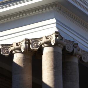 Winston Hall, columns