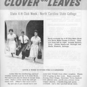 Clover leaves. July 25, 1961