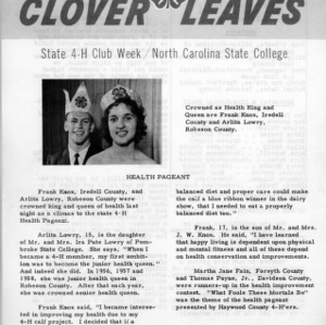 Clover leaves. July 28, 1961