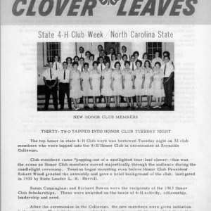 Clover leaves. July 24, 1963