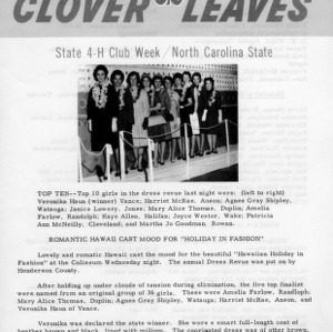 Clover leaves. July 25, 1963