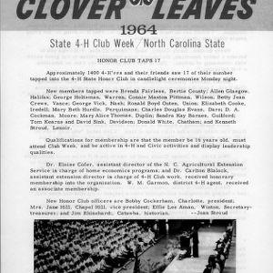 Clover leaves. July 21, 1964