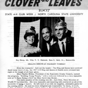 Clover leaves. July 26, 1967