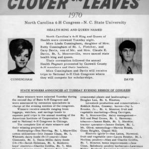 Clover leaves. July 29, 1970