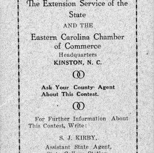 Boys' cotton club contest 1924 North Carolina [pamphlet]