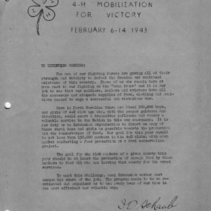 4-H mobilization for victory, February 6-14, 1943