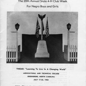 Program: the 20th annual state 4-H club week for negro boys and girls