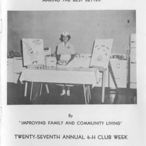 Twenty-seventh annual 4-H club week