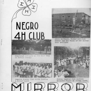 """Negro 4-H club mirror"""