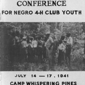Wildlife Conservation Conference for negro 4-H club youth