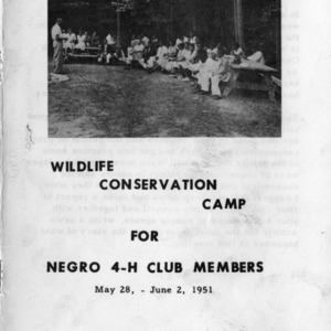 Tenth-annual wildlife conservation camp for negro 4-H club members