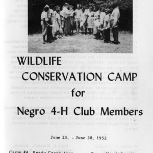 Eleventh-annual wildlife conservation camp for negro 4-H club members