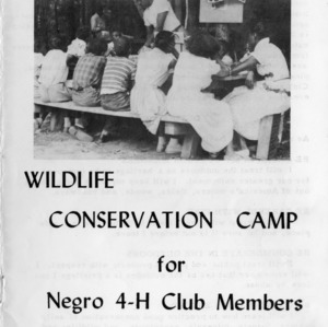 Thirteenth-annual wildlife conservation camp for negro 4-H club members