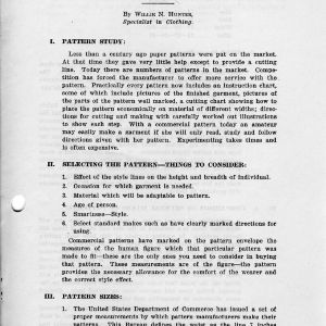 Commercial patterns (Extension Miscellaneous Pamphlet No. 28)