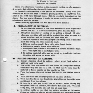 Cutting and fitting (Extension Miscellaneous Pamphlet No. 29)