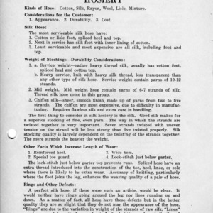 Hosiery (Miscellaneous Pamphlet No. 5)
