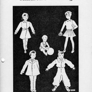 Children's clothing (Extension Miscellaneous Pamphlet No. 37)