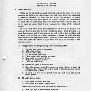Remodeling (Extension Miscellaneous Pamphlet No. 30)