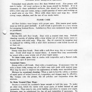 Care of floors and woodwork (Extension Miscellaneous Pamphlet No. 15, Revised)