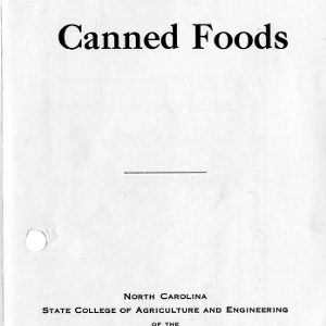 Storage for canned foods (Extension Folder No. 47, Reprint)