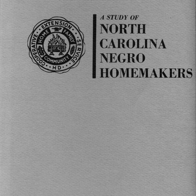 A study of North Carolina Negro homemakers