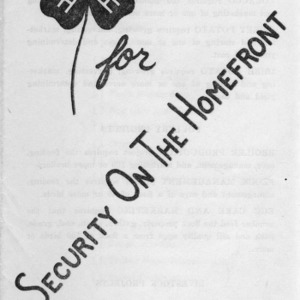 4-H for security on the homefront: Join the 4-H club (4-H Club Series No. 47)