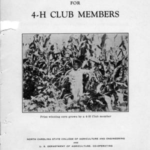 Corn club manual for 4-H club members