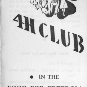 Join the 4-H club in the food and freedom fight