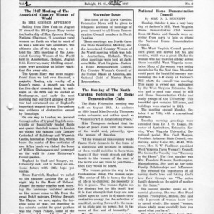 North Carolina Federation of Home Demonstration Clubs news letter 2, no. 2 [3]