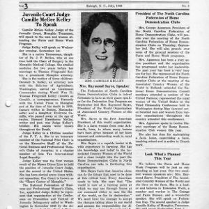 North Carolina Federation of Home Demonstration Clubs news letter 3, no. 3