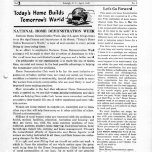 North Carolina Federation of Home Demonstration Clubs news letter 3, no. 2