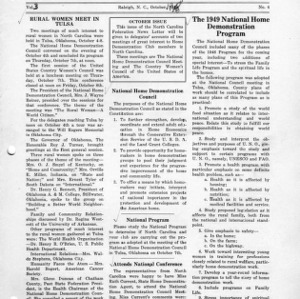 North Carolina Federation of Home Demonstration Clubs news letter 3, no. 4