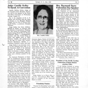 North Carolina Federation of Home Demonstration Clubs news letter 4, no. 3
