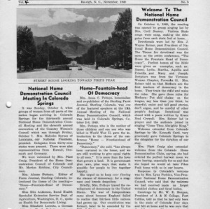 North Carolina Federation of Home Demonstration Clubs news letter 4, no. 5