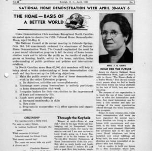 North Carolina Federation of Home Demonstration Clubs news letter 5, no. 2