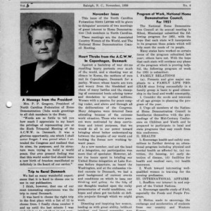 North Carolina Federation of Home Demonstration Clubs news letter 5, no. 4