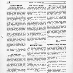 North Carolina Federation of Home Demonstration Clubs news letter 6, no. 4