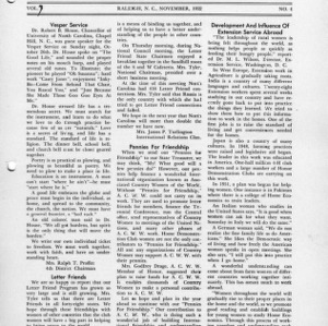 North Carolina Federation of Home Demonstration Clubs news letter 7, no. 4