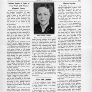 North Carolina Federation of Home Demonstration Clubs news letter 8, no. 3