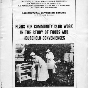Plans for community club work in the study of foods and household conveniences (Extension Circular No. 7, Third Edition)