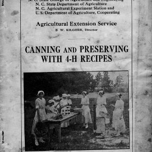 Canning and preserving with 4-H recipes (Extension Circular No. 11, Revised)