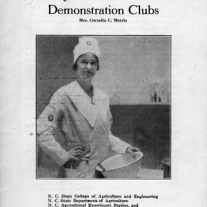 A study in foods for home demonstration clubs (Extension Circular 93)