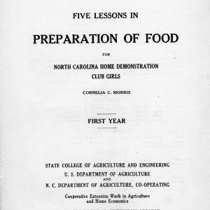 Five lessons in food preparation (Extension Circular 140)