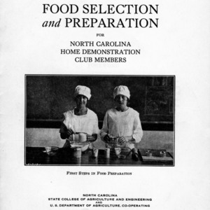 Food selection and preparation for North Carolina Home Demonstration Club members (Extension Circular No. 162)