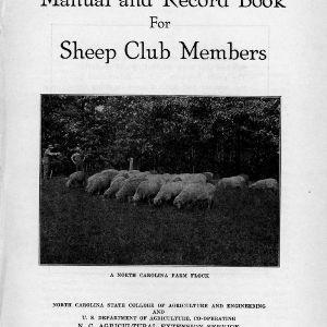 Manual and record book for sheep club members (Extension Circular No. 171)