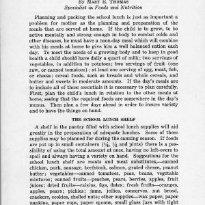 The school lunch (Extension Miscellaneous Pamphlet No. 17)