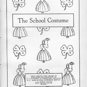 The school costume (Extension Miscellaneous Pamphlet No. 21)