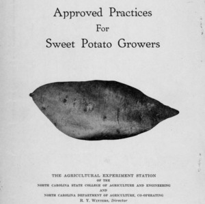 Approved practices for sweet potato growers (Bulletin No. 263, Revised)