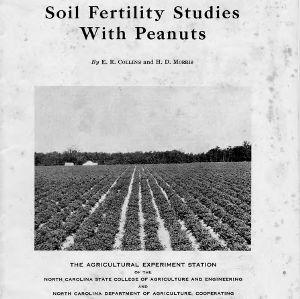 Soil fertility studies with peanuts (Bulletin No. 330)