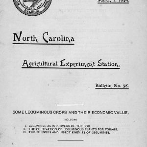 Some leguminous crops and their economic value (Bulletin No. 98)